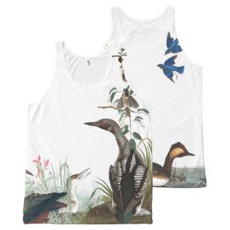 Audubon Collage of Birds Wildlife Tank Top