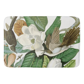 Audubon Cuckoo Birds Flowers Wildlife Bath Mat