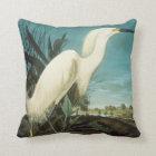 Audubon: Egret Throw Pillow