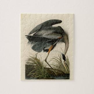 Audubon Great Blue Heron Birds Jigsaw Puzzle