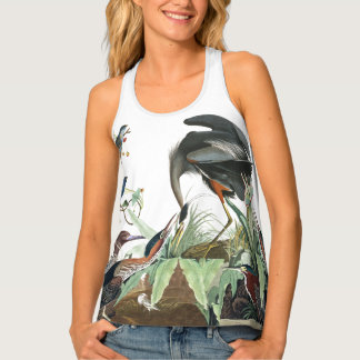 Audubon Great Blue Heron Birds Wildlife Tank Top