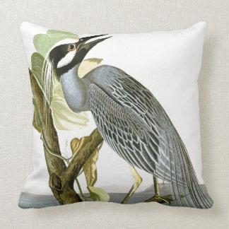 Audubon Heron Bird Coast Wildlife Throw Pillow
