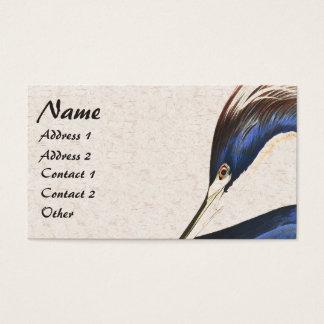 Audubon Heron Bird Wildlife Animal Business Card