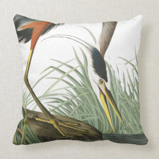 Audubon Heron Bird Wildlife Animal Throw Pillow