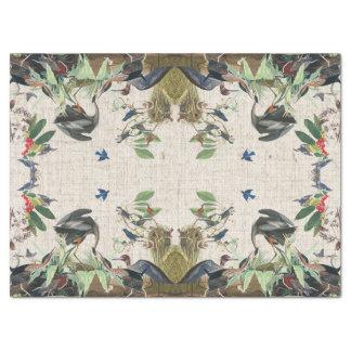 Audubon Heron Birds Collage Wildlife Tissue Paper