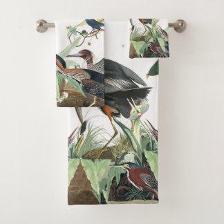 Audubon Heron Birds Wildlife Bath Towel Set