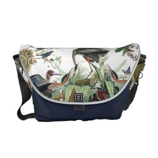 Audubon Heron Birds Wildlife Messenger Bag