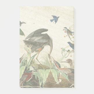 Audubon Heron Birds Wildlife Post It Notes