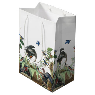Audubon Heron Bluebirds Birds Collage Gift Bag