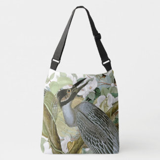 Audubon Heron Dove Birds Wildlife Floral Tote Bag