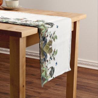 Audubon Heron Song Birds Flowers Table Runner
