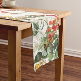 Audubon Hummingbird Birds Flowers Table Runner