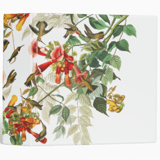 Audubon Hummingbird Birds Flowers Wildlife Binder