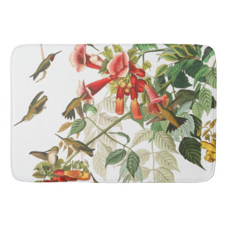 Audubon Hummingbird Birds Wildlife Floral Bath Mat