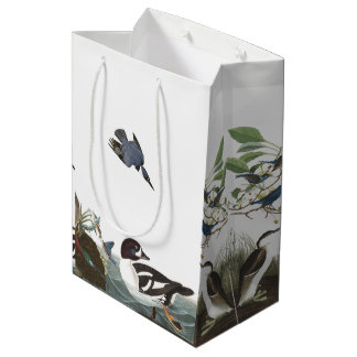Audubon Loons Bluebirds Birds Collage Gift Bag