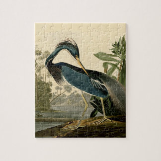 Audubon Louisiana Heron Jigsaw Puzzle