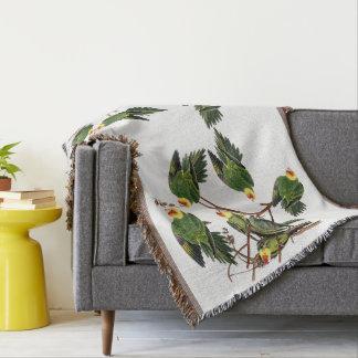 Audubon Parrot Birds Wildlife Animal Throw Blanket