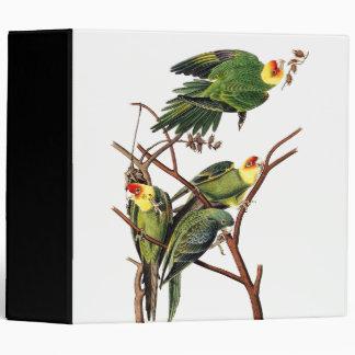 Audubon Parrot Birds Wildlife Animals Avery Binder