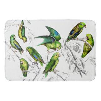 Audubon Parrotlets Birds Wildlife Animals Bath Mat