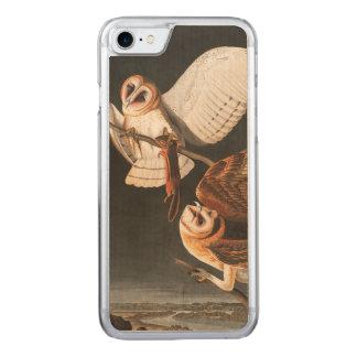 Audubon Plate 171 Barn Owl Carved iPhone 7 Case