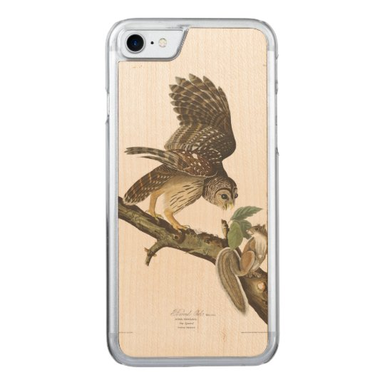 Audubon Plate 46 Barred Owl Carved iPhone 7 Case