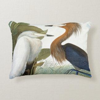 Audubon: Reddish Egret Or Purple Heron Decorative Pillow