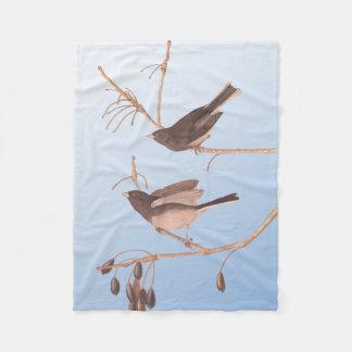 Audubon Snow Bird Fleece Blanket