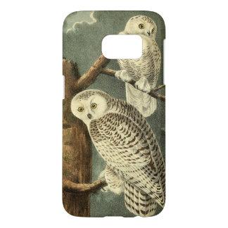 Audubon Snowy Owl Illustration Art Painting Samsung Galaxy S7 Case
