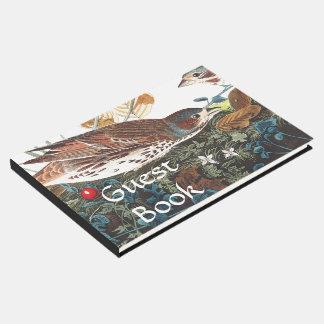 Audubon Sparrow Birds Wildlife Flowers Guest Book