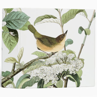 Audubon Warbler Birds Floral Wildlife Avery Binder