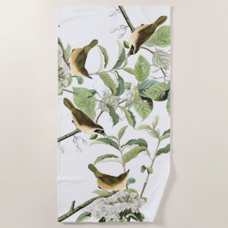 Audubon Warbler Birds Wildlife Animals Beach Towel