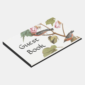Audubon Warbler Birds Wildlife Flowers Guest Book