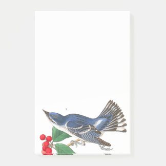 Audubon Warbler Birds Wildlife Post It Notes