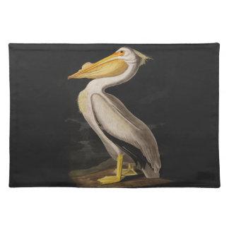 Audubon White Pelican Bird Vintage Print Place Mats