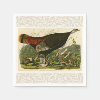 Audubon Wild Turkey Vintage Birds of America Paper Napkins