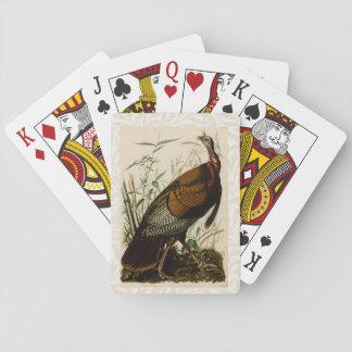 Audubon Wild Turkey Vintage Birds of America Playing Cards