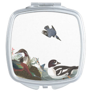 Audubons Collage Birds Wildlife Animal Compact Compact Mirror
