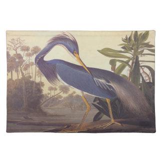 Audubon's Louisiana Heron or Tricolored Heron Place Mat