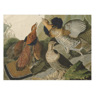 Audubon's Painting of a trio of Ruffed Grouse Tablecloth