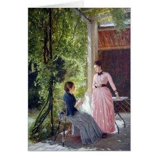 Auf der Terrasse - Art Card
