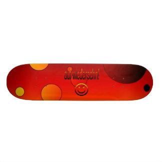 Auf Wiedersehn German Flag Colors Pop Art Custom Skate Board