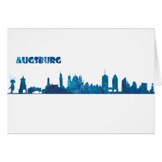 Augsburg Skyline Silhouette Card