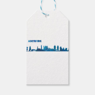 Augsburg Skyline Silhouette Gift Tags