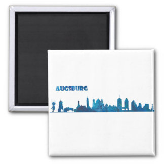 Augsburg Skyline Silhouette Magnet