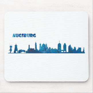 Augsburg Skyline Silhouette Mouse Pad