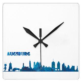 Augsburg Skyline Silhouette Square Wall Clock