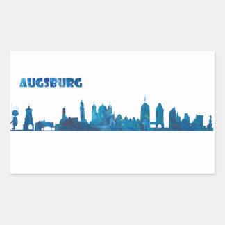 Augsburg Skyline Silhouette Sticker
