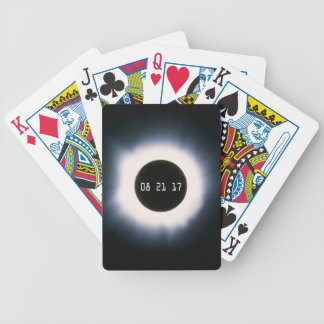 August 2017 Total Solar Eclipse in Black and White Bicycle Playing Cards
