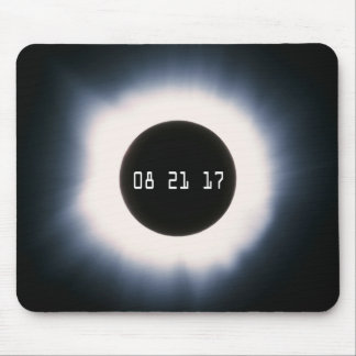 August 2017 Total Solar Eclipse in Black and White Mouse Pad