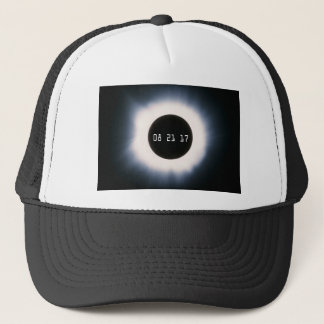 August 2017 Total Solar Eclipse in Black and White Trucker Hat